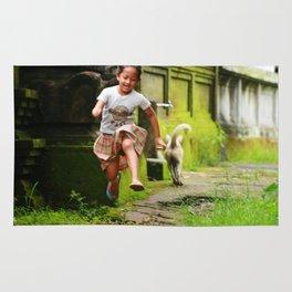 Bali - Girl Running Rug