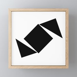 Abstract Modern Minimalist shapes Graphic Square triangles - balance Framed Mini Art Print
