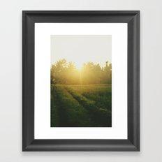 Sunrise in Ubud, Bali Framed Art Print