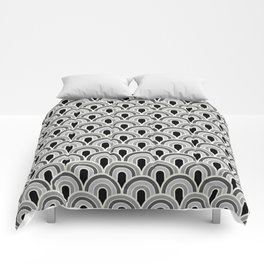 Rainbow Connection: Small: Black, White, Grey Comforters