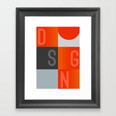 DSGN Framed Art Print