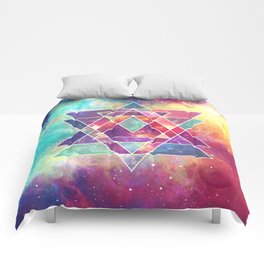 Sacred Geometry (Connection) Comforters