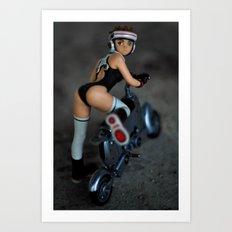 girlbike Art Print