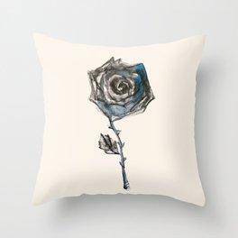 Royal Blue Rose Throw Pillow
