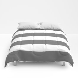 Grey and White Stripes Comforters