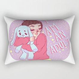 I am an adult. by Ane Teruel Rectangular Pillow