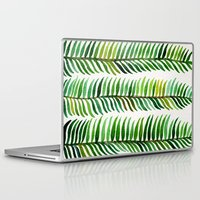 turquoise Laptop & iPad Skins featuring Seaweed by Cat Coquillette