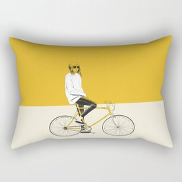 The Yellow Bike Rectangular Pillow