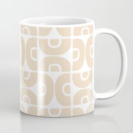 Groovy Mid Century Modern Pattern 732 Beige Coffee Mug