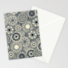 mandala cirque indigo cream Stationery Cards