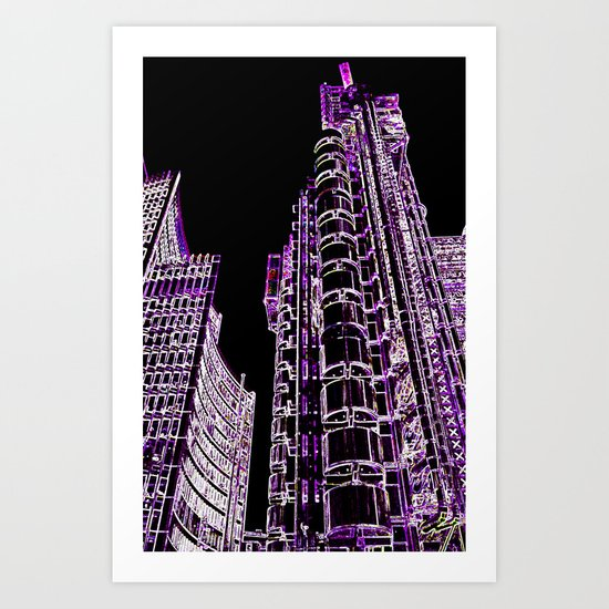 Willis Group and Lloyd's of London Abstract Art Print