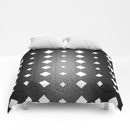 Black and White Leather Texture Diamond Pattern Comforters