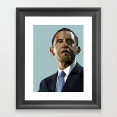 Geometric Obama Framed Art Print