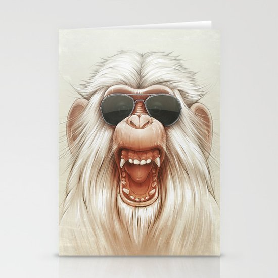 The Great White Angry Monkey Stationery Cards