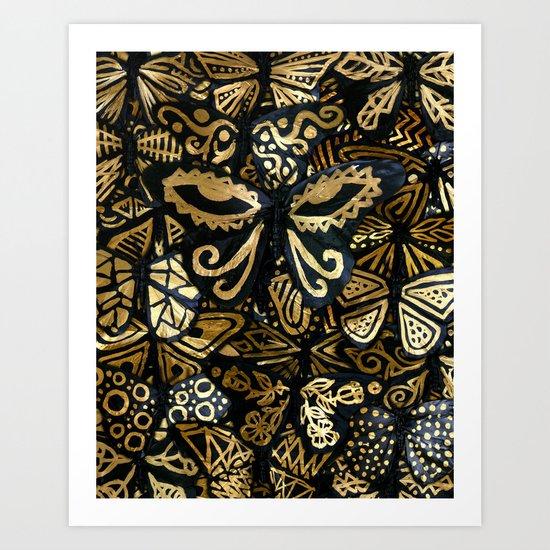 Swarm of the Butterflies Art Print