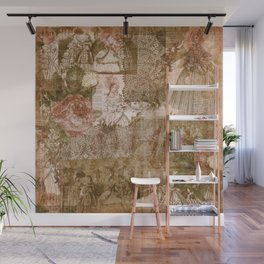 Vintage & Shabby Chic - Victorian ladies pattern Wall Mural
