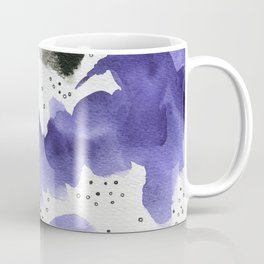 Purple and black on white Coffee Mug