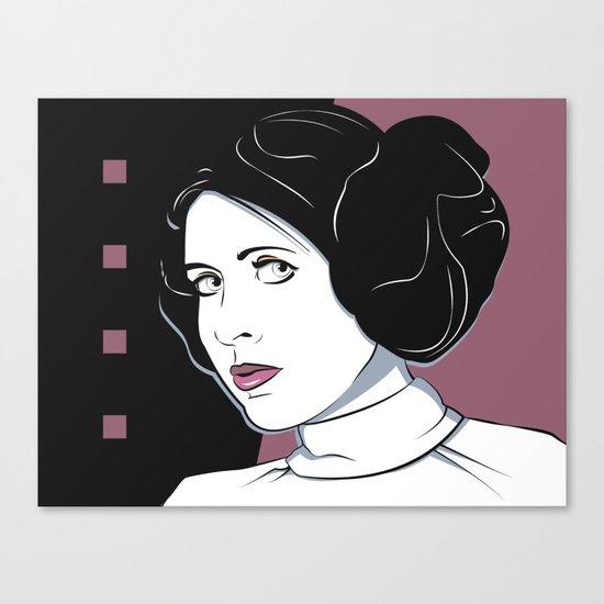Princess Leia Pop Art Canvas Print