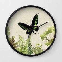 Ferns & Green Wall Clock