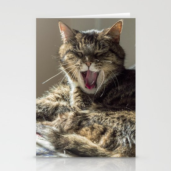 The laughing cat Stationery Cards