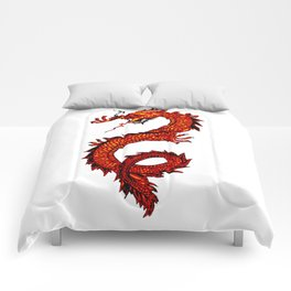 Mythical Red Dragon Comforters