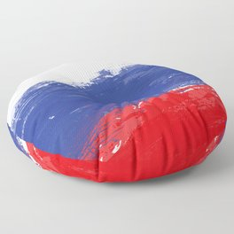 Russia's Flag Design Floor Pillow