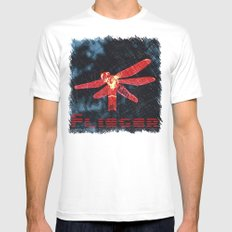 Night flyer Mens Fitted Tee MEDIUM White