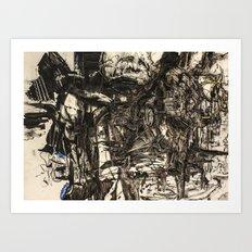 Komfo-Adu: A Haunting from the Atlantic Ocean Art Print