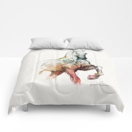 Horse (Siwy / Silver / color version) Comforters