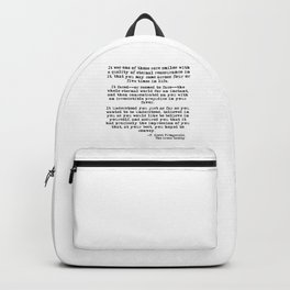 It was one of those rare smiles - F. Scott Fitzgerald Backpack