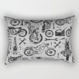 Vintage Motorcycle Pattern Rectangular Pillow