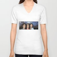 casablanca V-neck T-shirts featuring THE THREE GREAT LADIES by Kaitlin Smith