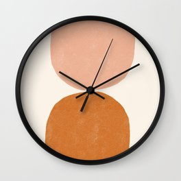 Terracotta Mid Century Modern Abstract Wall Clock