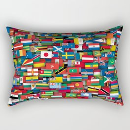 Flags of all countries of the world Rectangular Pillow