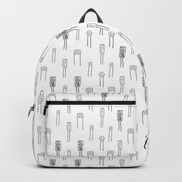 Capacitors - Black on White Backpack