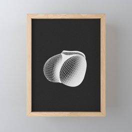 fishnet negative Framed Mini Art Print