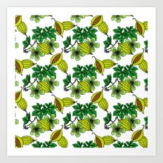 Jamaican Botanicals - Cerasee (green) Art Print