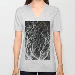 Abstract Tree Branches Unisex V-Neck