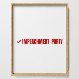 Funny Impeachment Party Design - Republic Party, Democratic Party, Impeachment Party Serving Tray