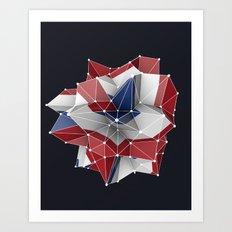 Abstract circular dutch flag in c4d Art Print