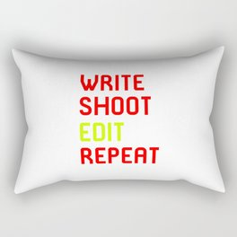 Write Shoot Edit Repeat Red Film School Rectangular Pillow