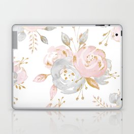Roses Gold Glitter Pink by Nature Magick Laptop & iPad Skin