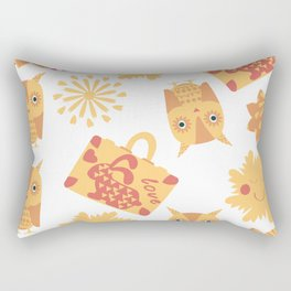 Travel pattern 4bg Rectangular Pillow