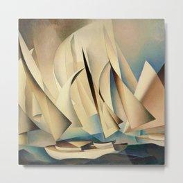 Pertaining to Sailing Yachts and Yachting by Charles Sheeler Metal Print