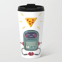 Do androids dream of electric pizza: Metal Travel Mug