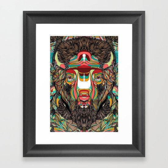 Bison (Feat. Bryan Gallardo) Framed Art Print