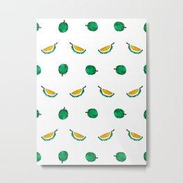 Durian - Singapore Tropical Fruits Series Metal Print