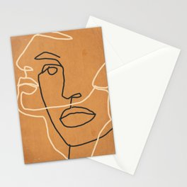 Abstract Face 6 Stationery Cards