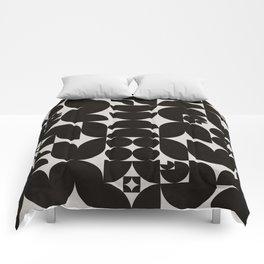 Black & White Mid Century Modern Pattern Comforters