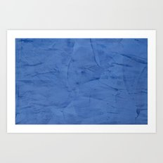 Light Blue Stucco Art Print